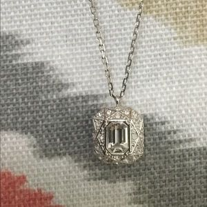 Swarovski emerald cut pendant and chain